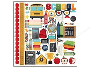 Back To School Stickers: Simple Stories Sticker Smarty Pants Fundamentals