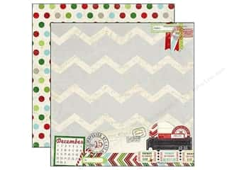 "Christmas Burgundy: Simple Stories Paper 12""x 12"" December Documented Special Delivery (25 pieces)"