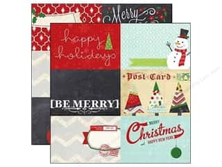 "Christmas $4 - $6: Simple Stories Paper 12""x 12"" December Documented 4""x 6"" Journaling Card Elements (25 pieces)"