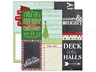 "Christmas $4 - $6: Simple Stories Paper 12""x 12"" December Documented 4""x 6"" Vertical Journaling Card Elements (25 pieces)"