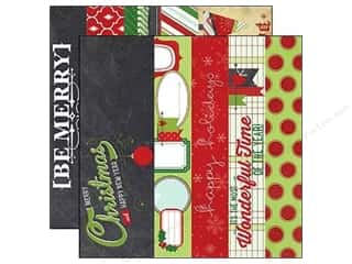 Holiday Sale Designer Papers & Cardstock: Simple Stories Paper 12x12 December Doc Bord/Title (25 piece)