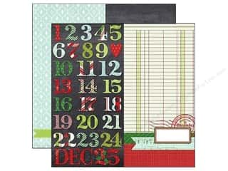"Christmas ABC & 123: Simple Stories Paper 12""x 12"" December Documented Page Elements (25 pieces)"