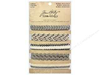 Zig Ribbons: Tim Holtz Idea-ology Trimmings Nat Black Cream