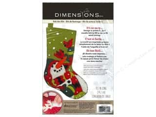 "Threads Dimensions: Dimensions Felt Art Kit Stocking 16"" Snowman & Company"