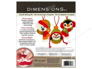 Weekly Specials Bear Thread Designs: Dimensions Needle Felting Kits Holiday Smiles Ornaments