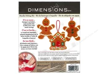 felting kits: Dimensions Needle Felting Kits Sweet Gingerbread Ornaments