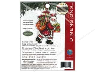 Cross Stitch Project Animals: Dimensions Cross Stitch Kit Susan Winget Ornament Santa With Bag