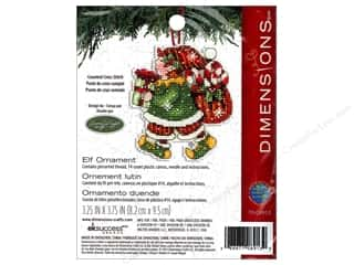 "Cross Stitch Project 14"": Dimensions Cross Stitch Kit Susan Winget Ornament Elf"