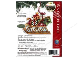 "Cross Stitch Project 14"": Dimensions Cross Stitch Kit Susan Winget Ornament Sleigh"