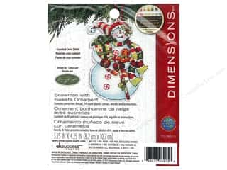 "Cross Stitch Project 14"": Dimensions Cross Stitch Kit Susan Winget Ornament Snowman With Sweets"