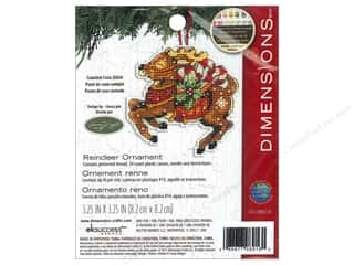Cross Stitch Projects Black: Dimensions Cross Stitch Kit Susan Winget Ornament Reindeer