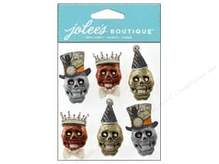 Jolee's Boutique Stickers Glitter Skulls
