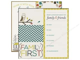 Paper House Fall / Thanksgiving: Echo Park 12 x 12 in. Paper Oh So Thankful Collection Family First (15 pieces)
