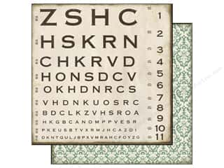 Floral Arranging ABC & 123: Echo Park 12 x 12 in. Paper Reflections Collection Optical Chart (25 pieces)