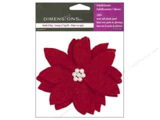 Felt Shapes: Dimensions 100% Wool Felt Embl Poinsettia Flower