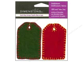 Plus Christmas: Dimensions 100% Wool Felt Embellishment Tags