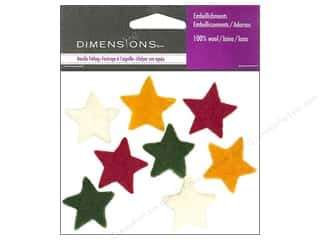 Felt Shapes: Dimensions 100% Wool Felt Embl Small Stars