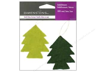 Dimensions 100% Wool Felt Embl Trees