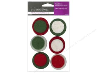 Dimensions $6 - $8: Dimensions 100% Wool Felt Embellishment Holiday Dots