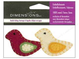 Dimensions 100% Wool Felt Embl Holiday Birds