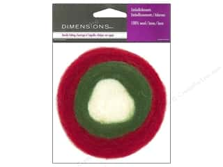Felt Shapes: Dimensions 100% Wool Felt Embellishment Roving Roll Holiday