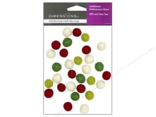 Dimensions 100% Wool Felt Embl 1cm Holiday Balls
