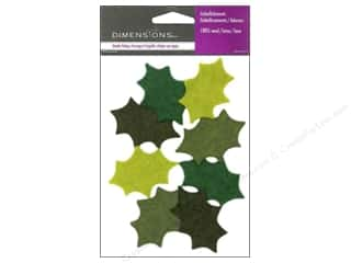 Wool Felt & Felting Patterns: Dimensions 100% Wool Felt Embellishment Holly Leaves
