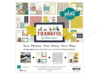 Clearance Echo Park Collection Kit: Echo Park 12 x 12 in. Oh So Thankful Collection Kit