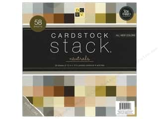 Clearance Blumenthal Favorite Findings: Die Cuts 12 x 12 in. Cardstock Stack Neutrals