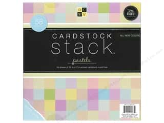 Die Cuts 12 x 12 in. Cardstock Stack Pastels