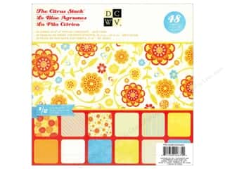 DieCuts with a View Height: Die Cuts With A View  8 x 8 in. Paper Stack Citrus