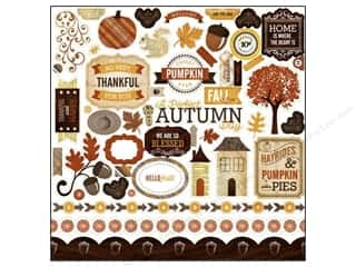 fall sale graphic 45: Echo Park Sticker 12x12 Reflections Fall Elements (15 set)