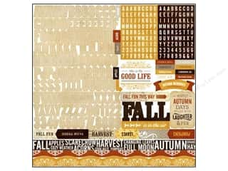 "Labels Fall / Thanksgiving: Echo Park Sticker 12""x 12"" Reflections Fall Alphabet (15 sets)"
