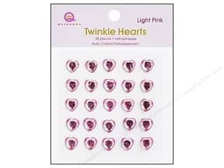 Valentine's Day Rhinestones: Queen&Co Sticker Twinkle Hearts Pink