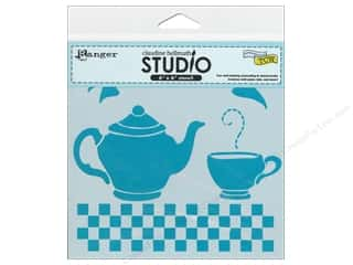 Tea & Coffee Clearance: Ranger Stencil Claudine Hellmuth Tea Time