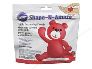 Cooking/Kitchen Edibles / Foods: Wilton Edible Decorations Shape N Amaze Decorating Dough 6oz Red