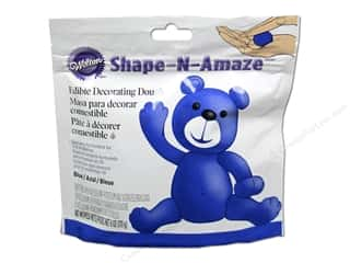 Cooking/Kitchen Blue: Wilton Edible Decorations Shape N Amaze Decorating Dough 6oz Blue