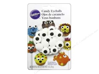 Edibles / Foods: Wilton Edible Decorations Icing Decorations Candy Eyeballs Large White