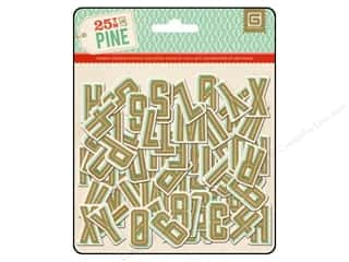 Christmas $0 - $3: BasicGrey Chipboard Alphabet Stickers 25th & Pine