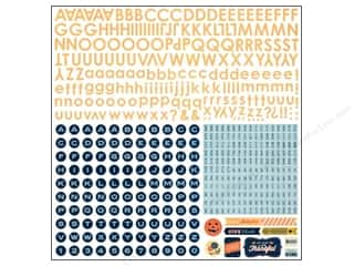 BasicGrey Alphabet Stickers Persimmon