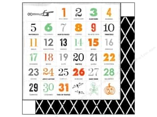 Glitz Design Halloween: Glitz Design 12 x 12 in. Paper Raven Countdown (25 pieces)