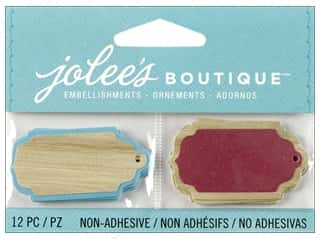 Jolee's Boutique Embellishment Wood Tags
