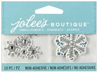 Glass Christmas: Jolee's Boutique Embellishment Mini Snowflakes