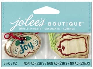 Jolee's Boutique Embellishment Christmas Wood Tags