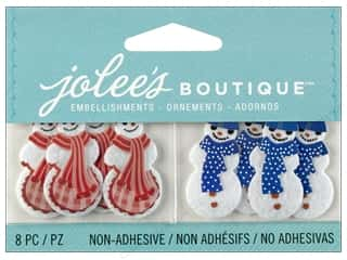 Fabric Christmas: Jolee's Boutique Embellishment Snowman and Snowwoman