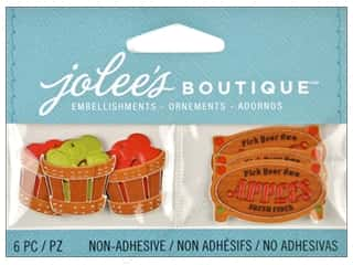 Glass Fall / Thanksgiving: Jolee's Boutique Embellishments Apple Pickings