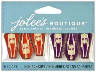 Jolee's Boutique Embellishment Mini Skeleton Coffins