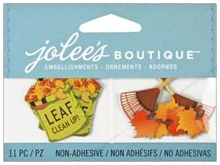 Jolee's Boutique Embellishment Raking Leaves