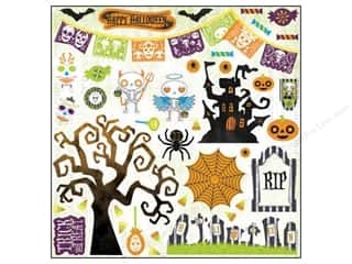 Weekly Specials Halloween Stickers: Bo Bunny Sticker Fright Delight Chipboard 12x12