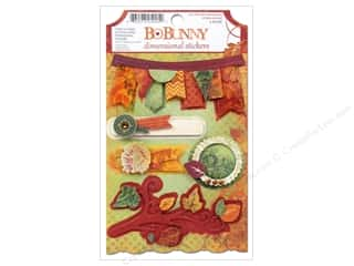 Bo Bunny Cardstock Stickers Dimensional Autumn Song